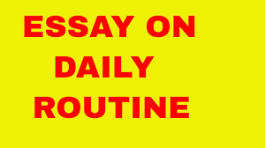 essay on daily routine speech on daily routine  essay on daily routine speech on daily routine