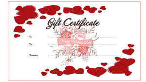 printable gift certificate template mothers day gift ideas