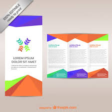 Brochure Trifold Template Free Colorful Tri Fold Brochure Template Vector Free Download