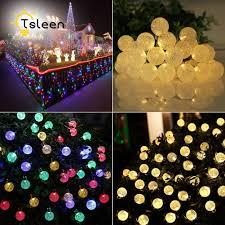 outdoor lighting balls. TSLEEN 5M 40Leds Crystal Balls Lamp String 110V 220V Lights Xmas Wedding Decor EU Plug LED Fairy Outdoor Lighting Led