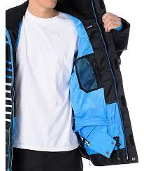 Nomis Lines 10k Black Mens Snowboard Jacket Zumiez