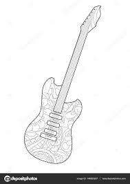 Muziekinstrument Gitaar Coloring Boek Vector Voor Volwassenen