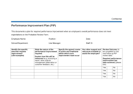 Personal Improvement Plan Template Personal Improvement Plan Template 40 Performance