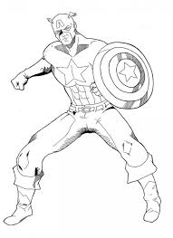 Small Picture Avengers Captain America Coloring Pages The Avenger Hero