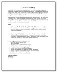 Cause And Effect Essay Samples Cause And Effect Essay Examples