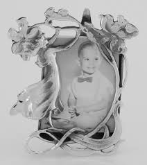 vintage art nouveau style figural mini picture frame in fine sterling silver com