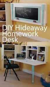 office wall desk. DIY Hideaway Homework Wall Desk Office