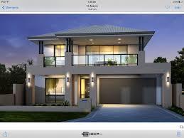 Balcony Over Garage Design Two Storey House Facade Grey And Black Balcony Over Garage