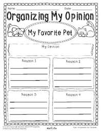 opinion writing and graphic organizer my favorite pet sample opinion writing and graphic organizer my favorite pet sample