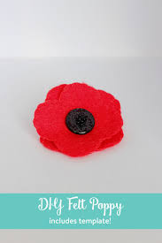 poppy template diy felt poppy includes free template the inspired home