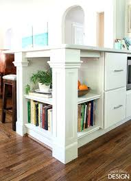 bookshelf for cookbooks build a bookshelf on the end of a kitchen peninsula cookbook storage ideas countertop bookshelf for cookbooks