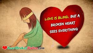 Love Is Blind Quotes Enchanting Love Is Blind But A Broken Heart Sees Everything