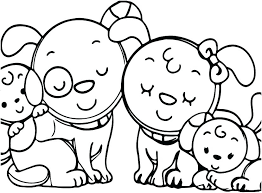 coloring pages family coloring pages for toddlers of families animal dog page colo