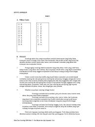 Contoh soal pilihan ganda pkn kelas 7 bab 5; Kunci Jawaban Buku Mandiri Sejarah Kelas Xi Seputar Sejarah