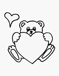 Small Picture Teddy Bear With Heart Coloring Pages Miakenasnet