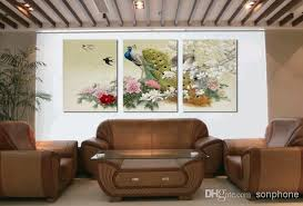 framed 3 panel large peacock wall art chinese style oil painting unique gift feng shui pictures home decor xd01970 peacock wall art canvas art picture