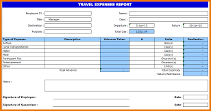 Excel Travel Expense Report Template Travel Expense Report Template Travel Expenses Report