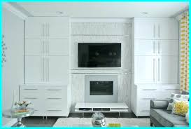 great ikea cabinets around fireplace built ins using cabinets