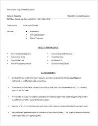 School Resume Inspiration High School Resume Examples Example Of High School Resume On Resume