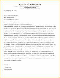 7 Student Letter Format Cook Resume