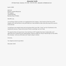 Security Ficer Cover Letter Guard Resignation In English