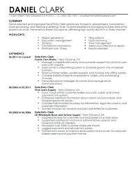 Data Entry Job Resume Clerical Work Clerk Examples Objective Expert