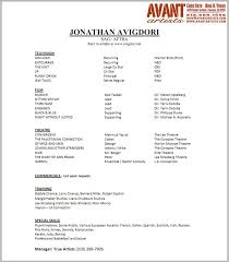 Performer Resume Template Beautiful Artist Resume Sample Artist