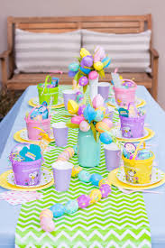 Kids Simple And Colorful Table Decorations For Easter Easter