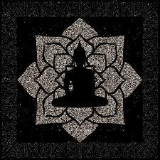 gold mandala buddha ilration the