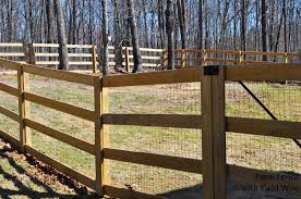 rail fence styles. Farm And Ranch Fences Can Have 2, 3 Or 4 Rails. To Customize This Fence, Add Post Caps Welded Wire Mesh Completely Secure Your Pets. Rail Fence Styles