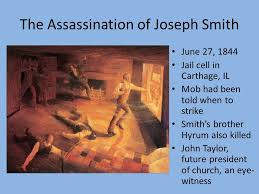 Image result for the assassination of Joseph Smith in 1844