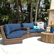 curved patio furniture 3 piece curve sectional outdoor wicker patio furniture deck furniture curved sectional curved
