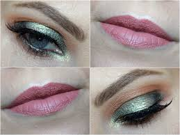 green halo eye look using makeup geek eyeshadows