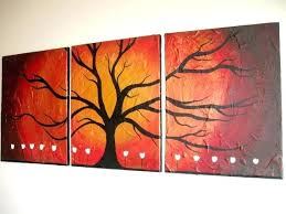 triptych wall art canada gold tree texture impasto 3 panel contemporary canvas large painting abstract huge x of life on large 3 panel wall art with triptych wall art canada gold tree texture impasto 3 panel