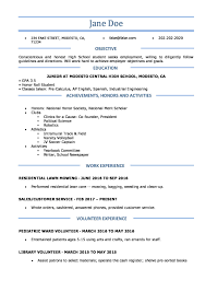 Highschool Resume Template 11000 Drosophila Speciation Patternscom