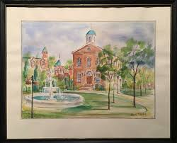 Betty McArthur (Canadian) - Watercolour - Old City Hall, Woodstock ...