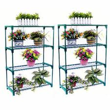 double 4 tier steel mini garden greenhouse staging shelving plant stand uk