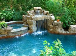 Pool Designs With Rock Slides Master Pools Guild Water Feature Pools Spas Islands