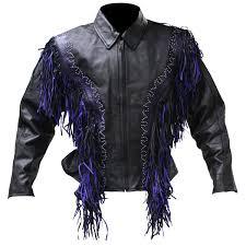 womens 1725 fringe leather jacket