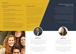 University Brochure Template Free College TriFold Brochure Template In Adobe Photoshop 7