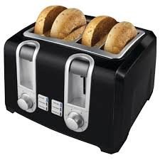 Quilted Kitchen Appliance Covers Amazoncom Black Decker T4569b 4 Slice Toaster Black Double