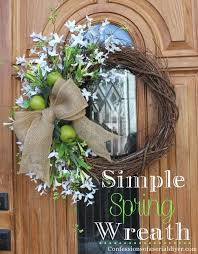 spring wreath for front doorSimple Spring Wreath  Confessions of a Serial DoitYourselfer