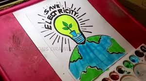 Save Electricity Chart How To Draw Save Electricity Drawing