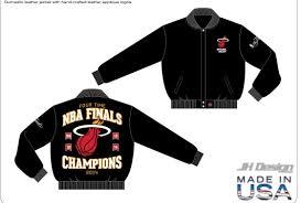 Jh Design Nba Jackets Miami Heat Nba Us Made Leather Champions Jacket By Jh Design