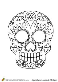 Coloriage Squelette Sucre Nature Et Fleurs Sur Hugolescargot Com