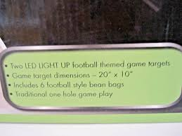 Verus Sports Glo Bright Light Up Bean Bag Toss Game