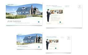 Real Estate Postcard Templates Word Download Free Coastal Real