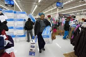 inside walmart black friday.  Inside People Shop At A Walmart Store On  To Inside Black Friday Y