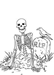 Animaux Squelette Halloween Imprimer Coloriage Squelette Halloween