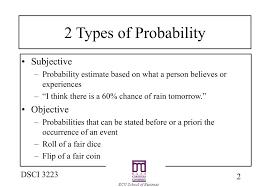 Types Of Probability Ppt Probability Statistics Powerpoint Presentation Id